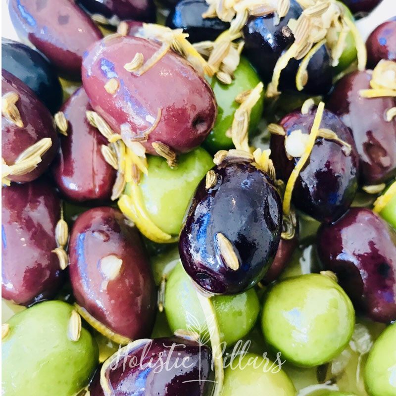 warm moroccan olives
