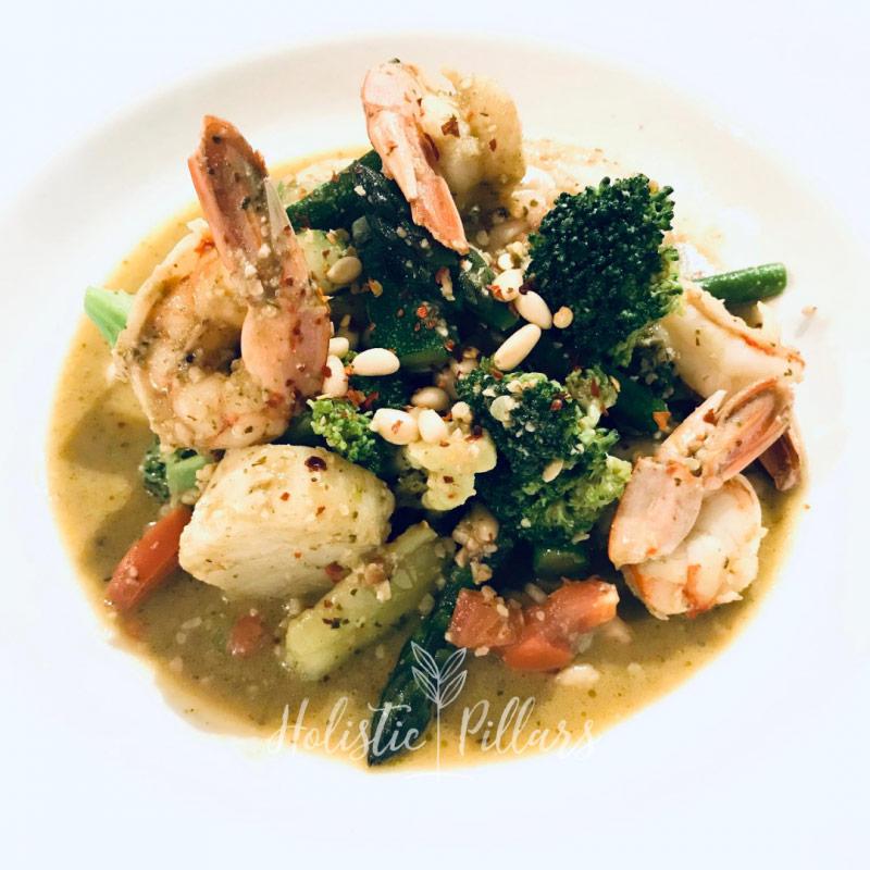 creamy seafood pesto